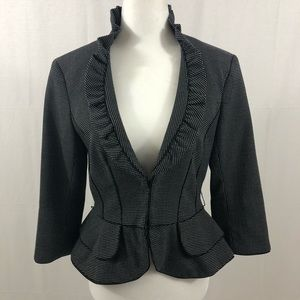White House Black Market Blazer, Size 4, Black